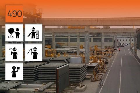 Usines de préfabrication en béton armé de Consolis, ZPO, ZPG, Pologne