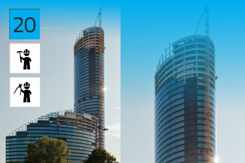 Sky Tower, LC Corp. SA,  Wrocław, Poland