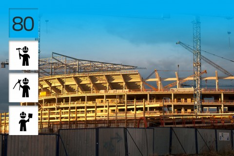 Euro 2012 – Stadion, Wrocław, Polen, Max Bögl