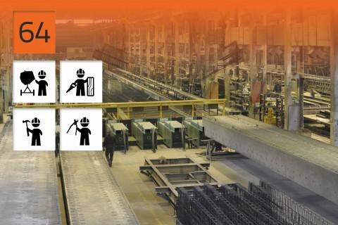 Usines de préfabrication en béton armé en Pologne